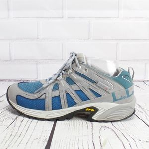 LL Bean Gray Blue Hiking Outdoor Sneakers Tek 9.5